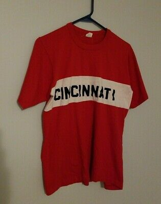 Vintage Cincinnati, Ohio VELVA SHEEN T-Shirt (Size Large) 1980s / 1990s Retro