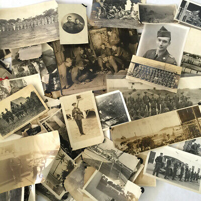 Lot of 200+ Vintage WWI & WWII Photos US Army, Marines, Cuba Sugar Intervention