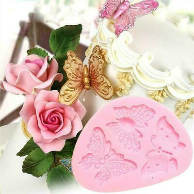 3D Butterfly Butterflies Flower Silicone Mould Sugar Craft Fondant Chocolate Mou