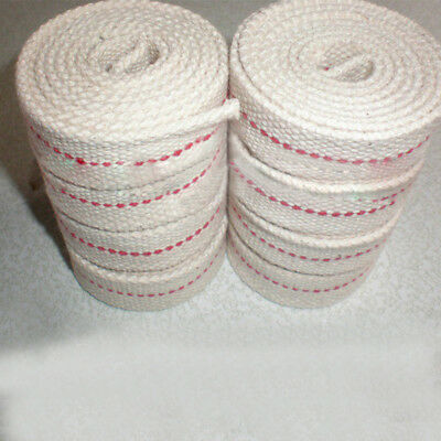 "10Pcs Flat Cotton Oil Lamp Wick Roll For Oil Lamps and Lanterns 10m/39.4"" New"