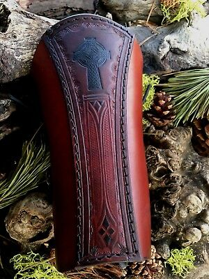 """ARCHERY ARM GUARD//BRACER /""""TREE OF LIFE//CELTIC KNOT WORK/""""  MADE IN USA!"""