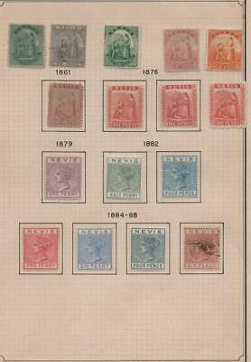 NEVIS: 1861-1888 Queen Victoria - Ex-Old Time Collection - Small Page (24926)