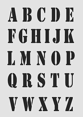Alphabet Letters UPPERCASE 35mm font MYLAR STENCIL Craft Arts 190 micron