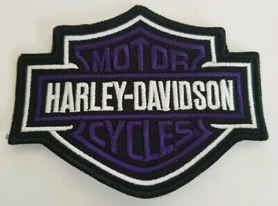 """Harley Davidson Motorcycles Small Patch Bar Shield Purple and Black 3.5""""x2.75"""""""