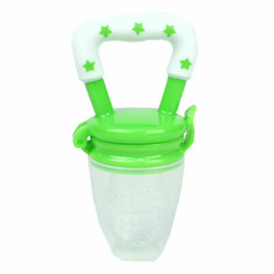 Baby Fresh Fruit Vegetable Pacifier Dummy Feeder Soother -Green Teat Size: Large