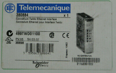 Telemecanique 499TWD01100 ConneXium Twido Ethernet Interface 5VDC@155mA *NEW