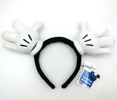 Disney Park Resort Bow Mickey Mouse Hand White Minnie Ears Gifts Cos Headband