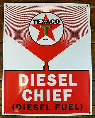 "17/"" 1950-60 TEXACO RED DIESEL FUEL GASOLINE DECAL OIL CAN//GAS PUMP//LUBSTER"
