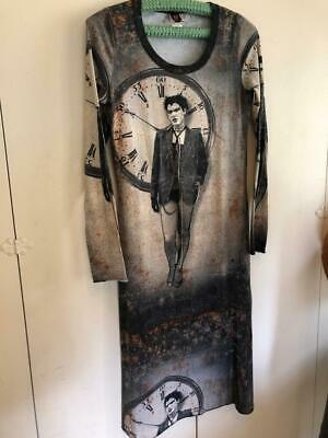 d9be1a464a45 JEAN PAUL GAULTIER SOLIEL Cotton Knit Long Dress Clockwork Steam Image sz S  or M