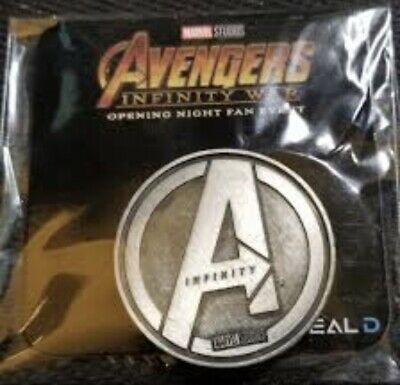 Avengers Infinity War Opening Night Fan Event Marvel Collectible Coin (UNOPENED)