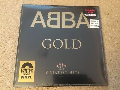 ABBA Gold Greatest Hits HMV GOLD VINYL Limited Edition Double Album-New & Sealed