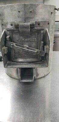 Commercial VINTAGE POTATO PEELER M.J.M. MFG. CO. With (2) fry cutters Insta Cut
