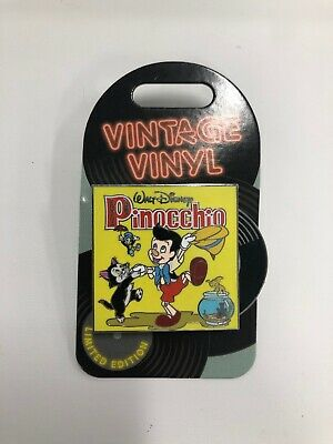 Walt Disney Parks Vintage Vinyl PINOCCHIO Pin LE 3000 March Pin Of The Month *20