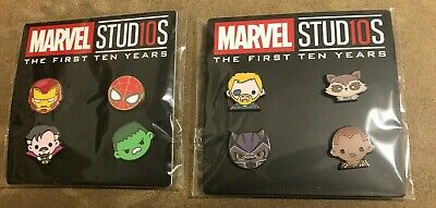 Disney Marvel Studios DMR Pin Set 3 and 4 - Iron Man Spider-Man Hulk Thor