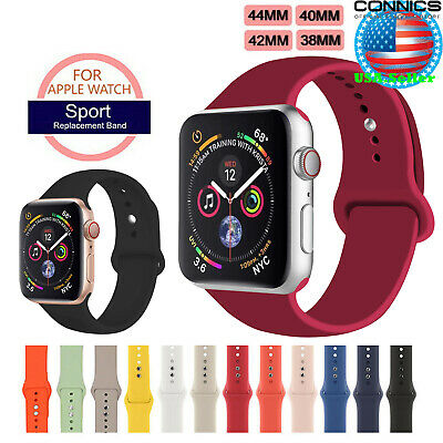 38 40 42 44MM IWatch Sport Silicon Band Strap for Apple Watch Series 4 3 2 1