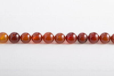 Carnelian/Carnelian - Balls 8mm/Drilled through (1, 5 or 10 Pcs)