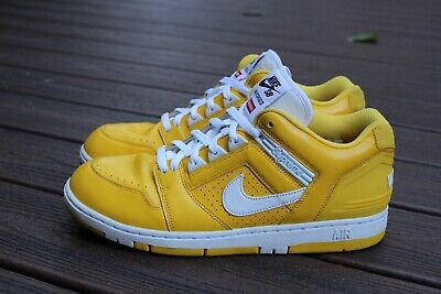 SUPREME NIKE SB Air Force 2 YELLOW SIZE 10 *NEW DROP