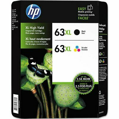 2 X New Genuine HP 63XL Blk & Clr Ink Officejet 3830 3831 3832 Deskjet 3633 3634