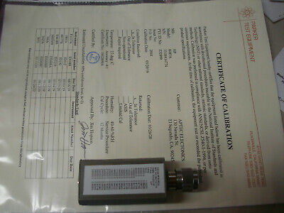 CALIBRATED Agilent / HP 8485A 50MHz - 26.5GHz RF Power Sensor (-30 to 20 dBm)