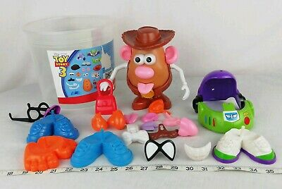 Mr Potatoe Head Bundle, From Toy Story 3. Buzz & Woody Outfit incomplete &Spares
