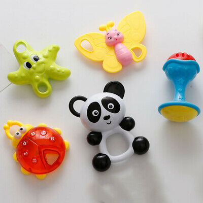 Rattles Teether Grab Musical Instrument Baby Shaker Toy Kids Party Toys ONE