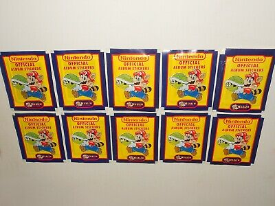 10x Sealed Packs of Vintage 1992 Official Nintendo Merlin Album Stickers