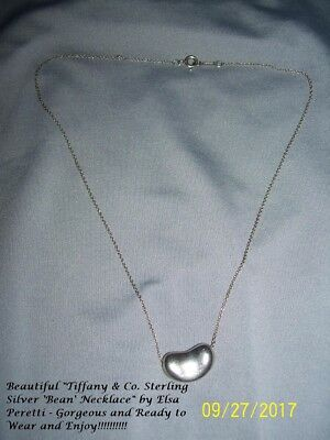 8726ab561 Tiffany & Co. Sterling Silver (925) Elsa Peretti Classic Signature Bean  Necklace