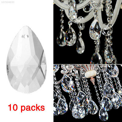 BF18 10Pcs/Pack Clear Crystal Pendants Hanging Glass Chandelier Decoration DIY