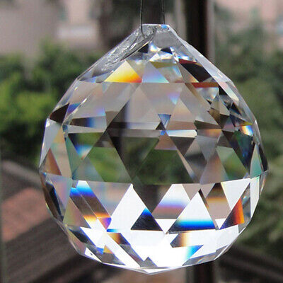 20/30/40/50mm 0.8in Clear Glass Crystal Ball Prism Lamp Lighting Pendant Decor