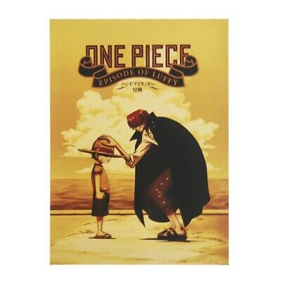 One Piece Character Poster Luffy and Shanks Wall Kraft Paper Home Decor Painting