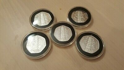 5 X JOBLOT 2009 KEW GARDENS 50p COINS FIFTY PENCE QUALITY COLLECTIBLE COPY
