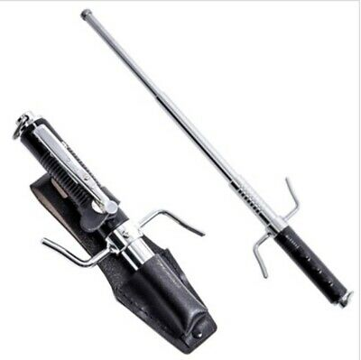 21 Inch Spring Powered Auto Opening Expandable Police Baton with carrying pouch