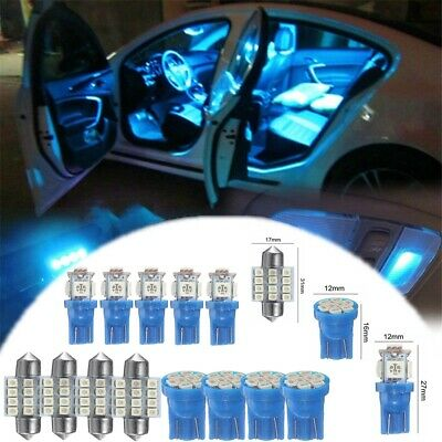 13x Auto Car Interior Package Kit LED Lights For Dome License Plate Lamp 12V