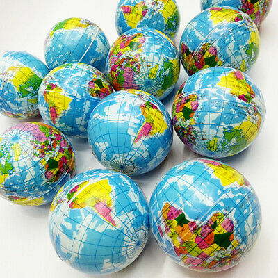 Earth World Map Globe Stress Relief Squeeze Hand Therapy Bouncy Ball Toys Reliab