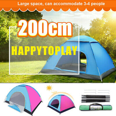 3-4 Person Automatic Pop Up Dome Tent Camping Hiking Waterproof Family Travel