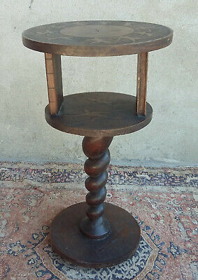 Beautiful Pedestal Table Wooden Carved Style Louis XIII Signed Ragris