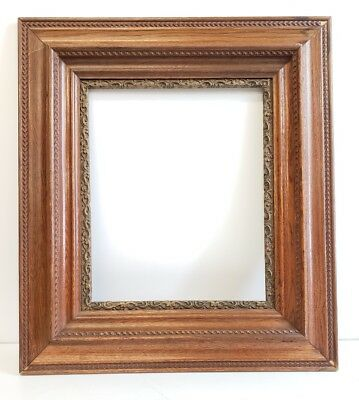 "Antique vintage Layered Wood Gold Gilt Art Picture Frame ornate large 27""×24"""