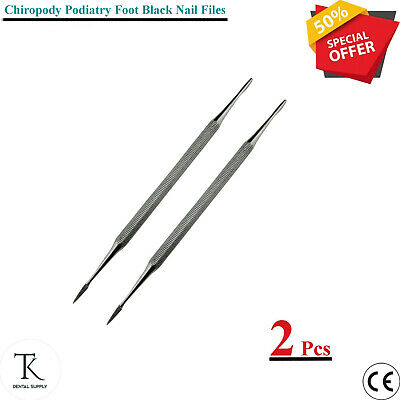 Lab Chiropody Diamond Deb & Black Nail File Double Ended Pedicure Instruments CE