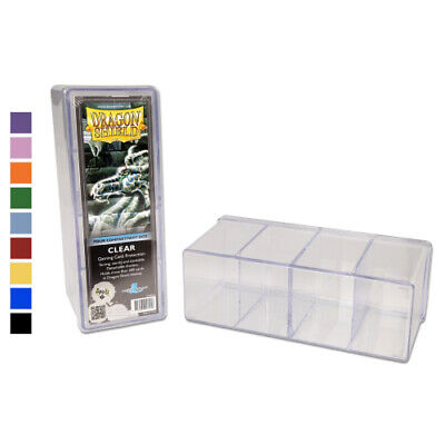 Dragon Shield - 4 Compartment Storage Box - Choose Box Colour - Pokemon MTG Box