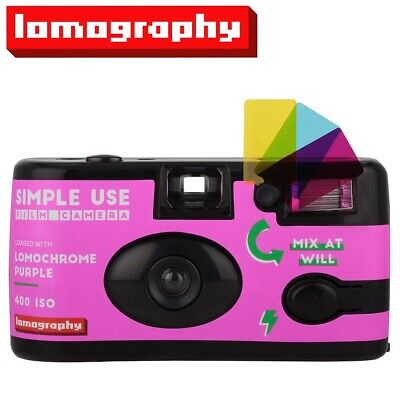 Lomography LomoChrome Purple 400 36exp 35mm Disposable SIMPLE USE Film Camera US