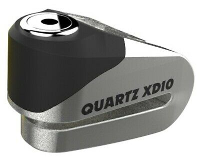 Oxford Quartz XD10 Disc Lock - Motorcycle Scooter ATV 10mm Pin Alloy - Stainless