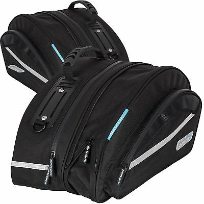 Spada Expandable Motorcycle Motorbike Sports Pannier Luggage 17L to 22L - Black