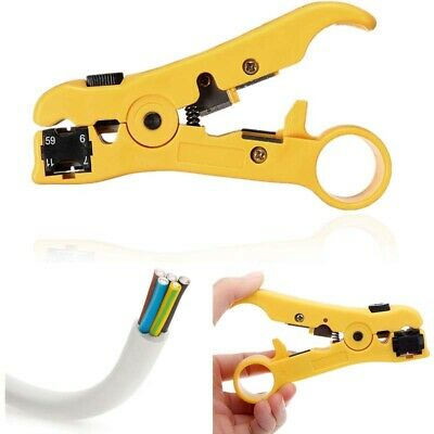 Rotary Coax Coaxial Cable Wire Cutter Stripping RG59 RG6 RG7 RG11 Stripper Tool