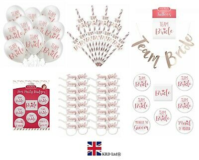 TEAM BRIDE HEN PARTY FAVOURS Fillers Night Do Fancy Dress Tribe To Be Squad UK