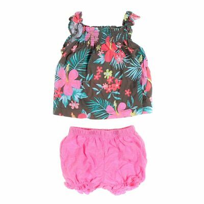 Carter's Baby Girls Tank Top & Shorts Set, size 6 mo,  green, multi colored