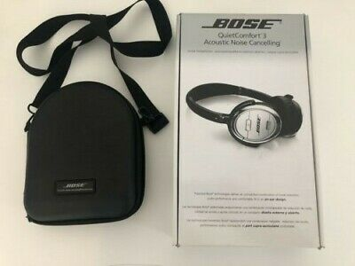 Bose Quiet Comfort 3 QC3 On Ear Acoustic Noise Cancelling NC Headphones.