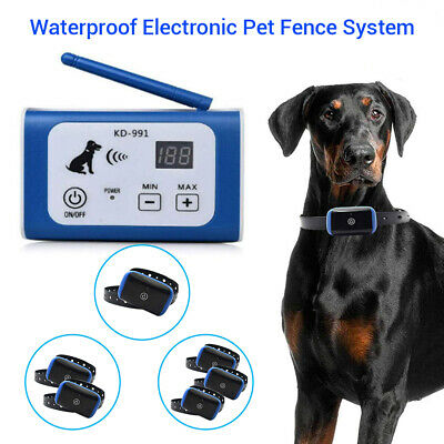 1x/2x/3x Waterproof Pet Dog Electronic Wireless Fence System Containment Collar