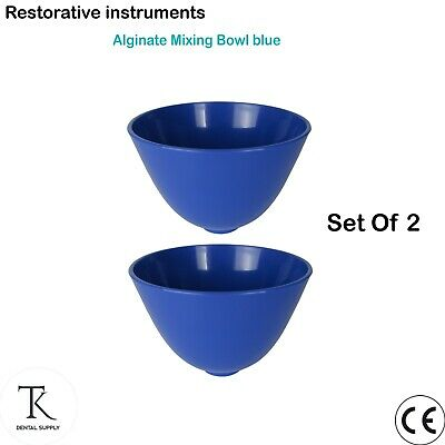 15 x Dental Blue Mixing Alginate Bowl Flexible Rubber Mixing For Plaster Lab CE