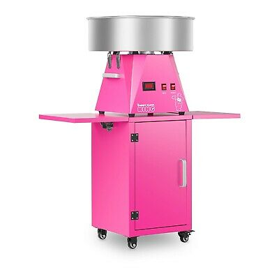 Cotton Candy Floss Machine Barbe A Papa Ensemble Avec Train Chariot Rose Nouveau