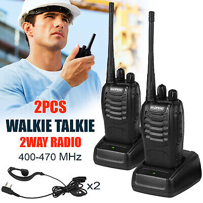 2 PCS Baofeng BF-888S Walkie Talkie 16 Channels Two-way Portable CB Radio UHF 5W